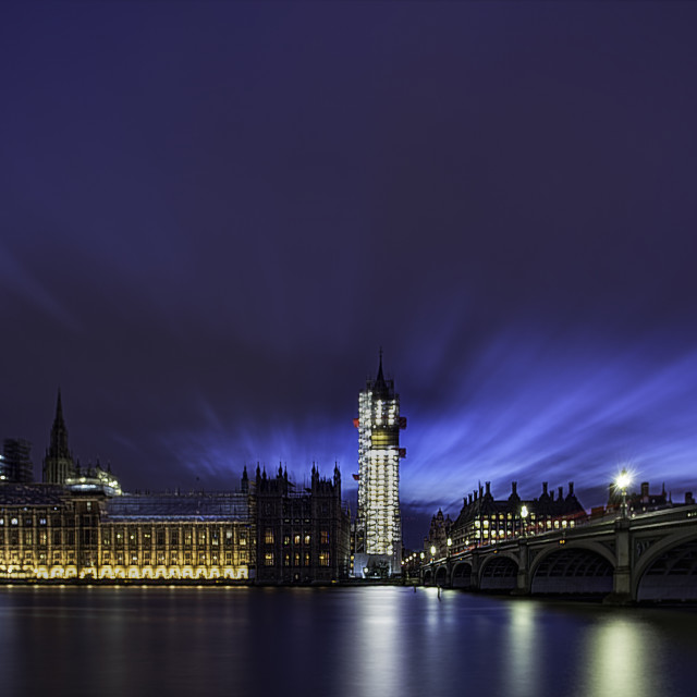 """Twilight Over Westminster"" stock image"