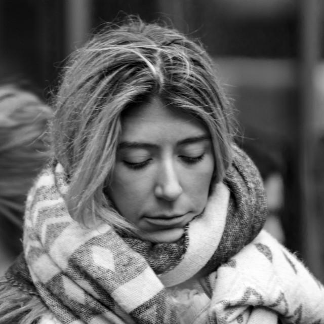 """Random Street Photography - Girl I"" stock image"