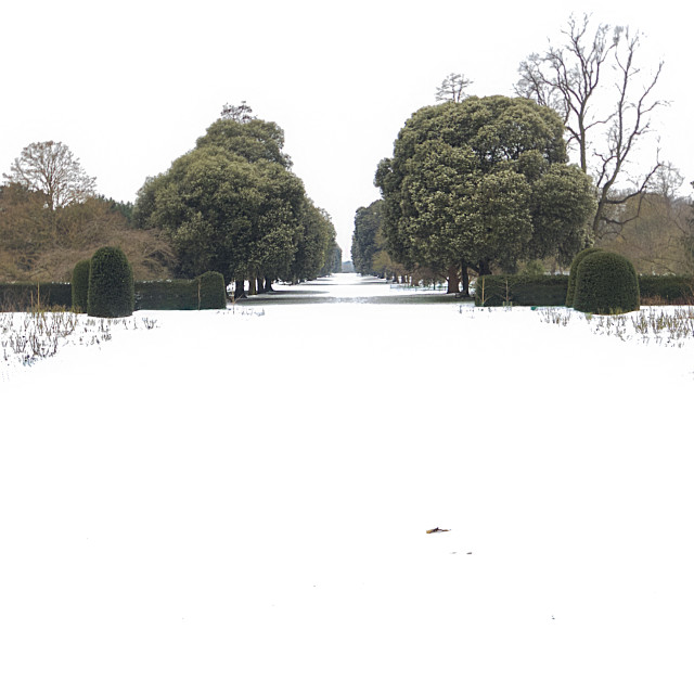 """Wintertime at Kew"" stock image"