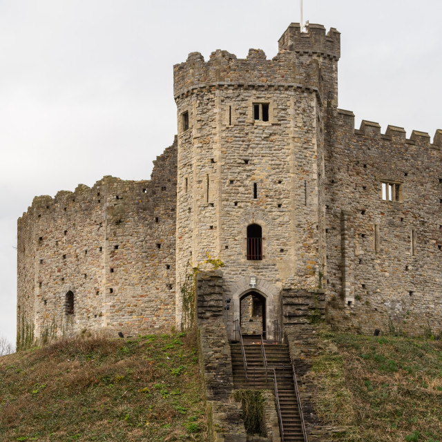 """Cardiff Castle Keep"" stock image"
