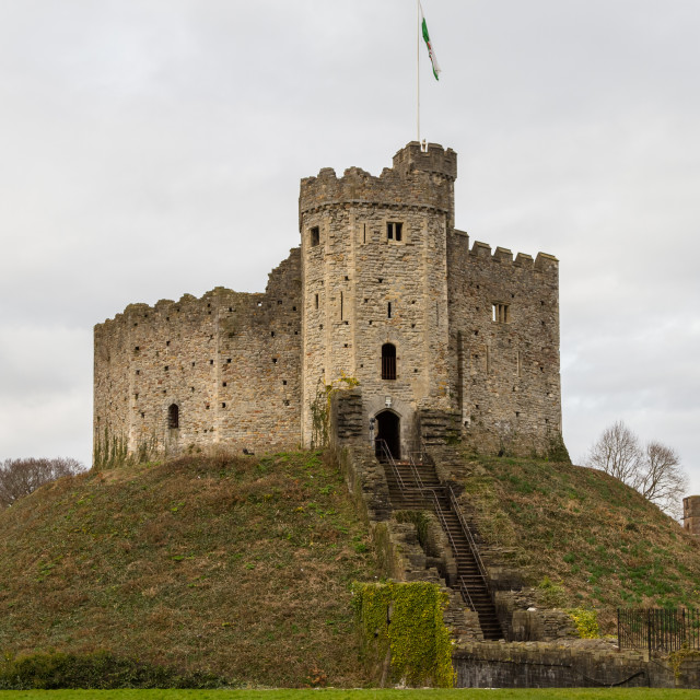 """Cardiff Castle"" stock image"