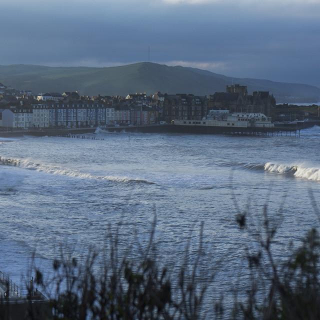"""Aberystwyth surf"" stock image"
