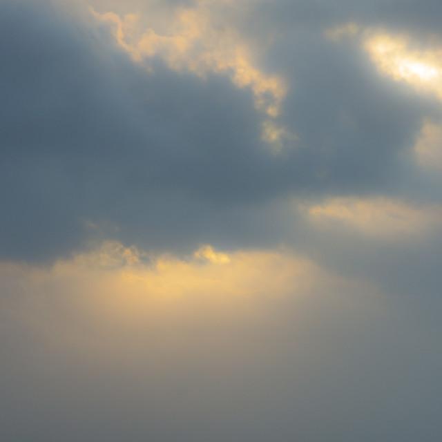 """""""sunshine on a rainy day"""" stock image"""