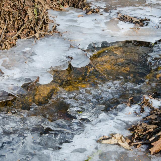 """""""Melting ice"""" stock image"""