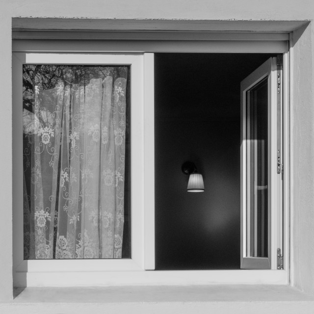 """""""Light in the window"""" stock image"""