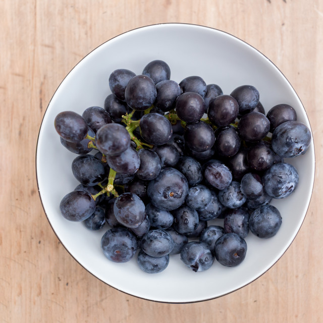 """Bowl of ripe blueberries"" stock image"