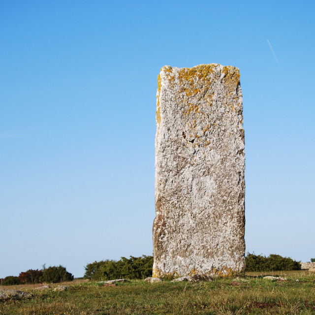 """""""Standing stone, an ancient monument"""" stock image"""