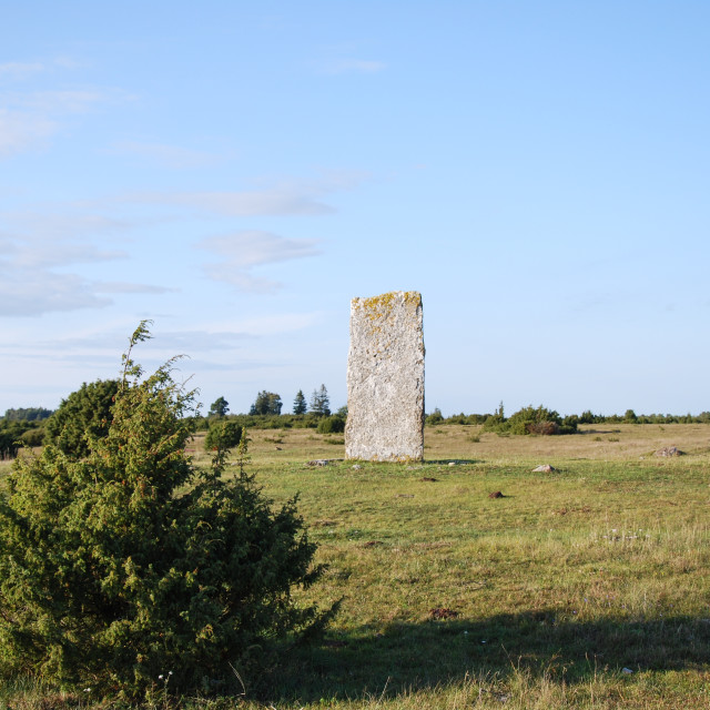 """""""Ancient monument in a great plain area"""" stock image"""