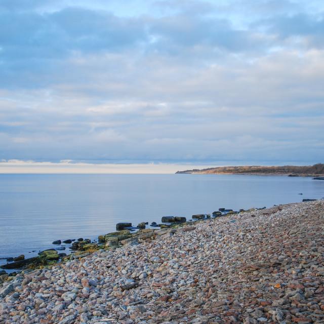 """Idyllic bay with calm water"" stock image"