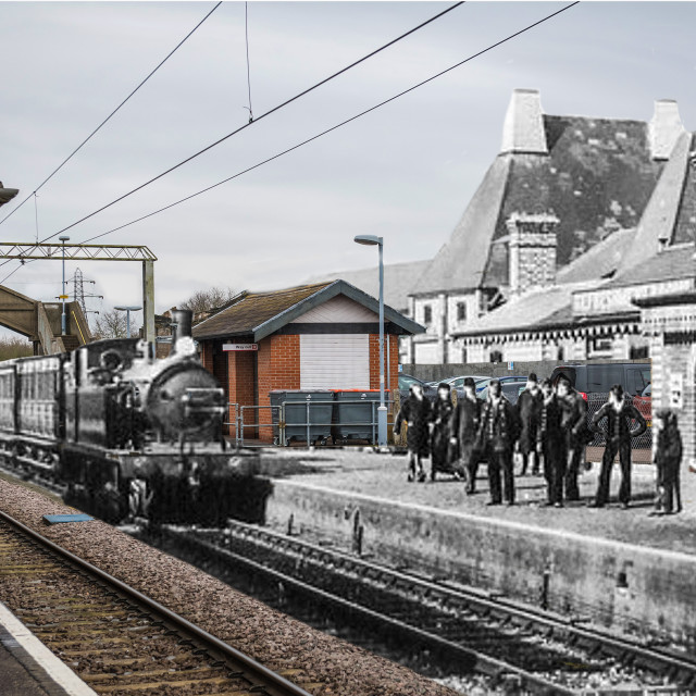 """Step Back In Time 2 - Thorpe Le Soken Railway Station"" stock image"