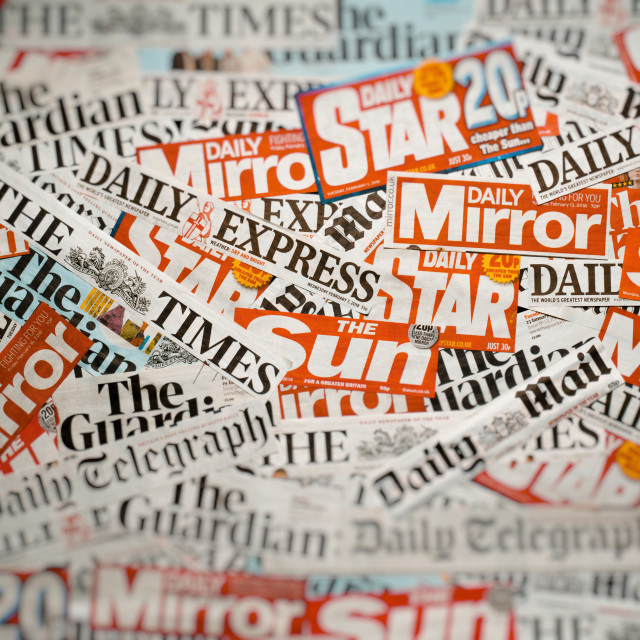 """""""Newspapers from the United Kingdom"""" stock image"""