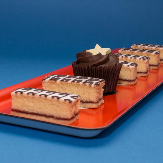 """""""Bakewell Cupcake"""" stock image"""
