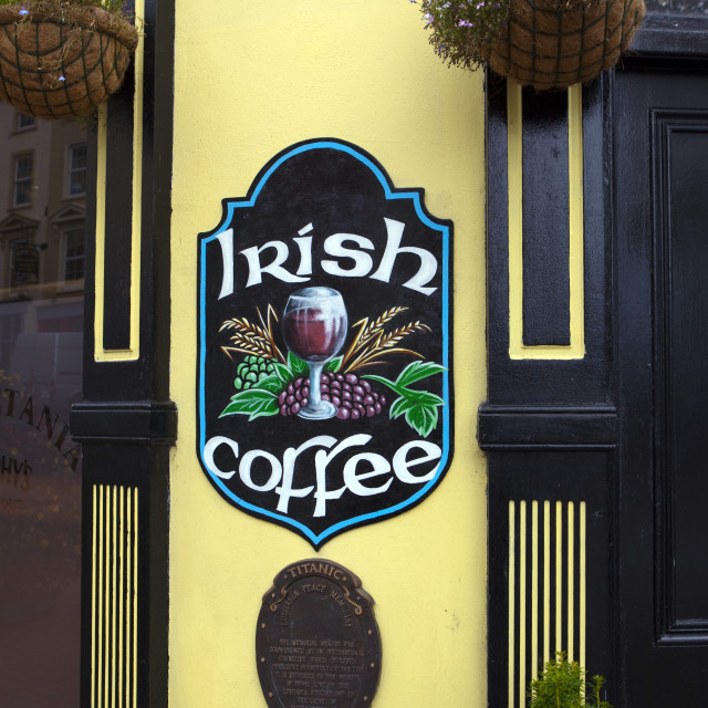 """Irish Coffee, Cobh, Cork, Ireland"" stock image"