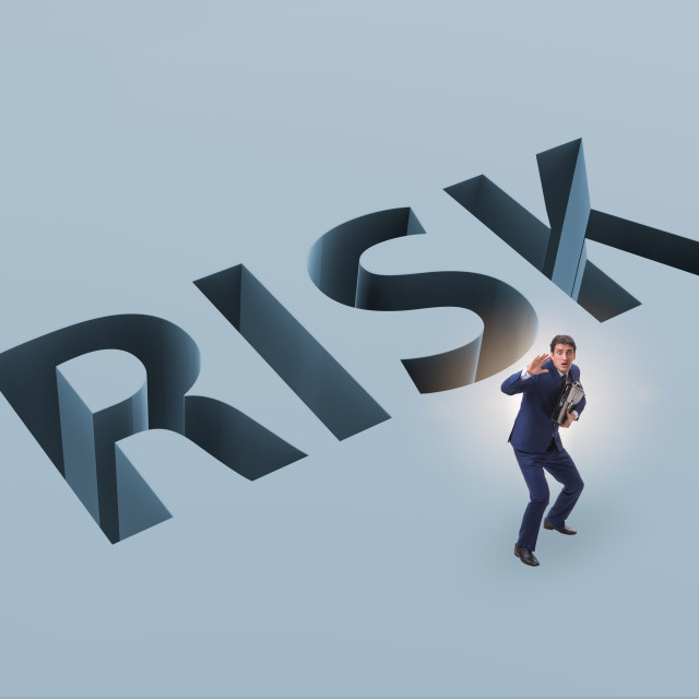 """""""Businessman in financial risk business concept"""" stock image"""