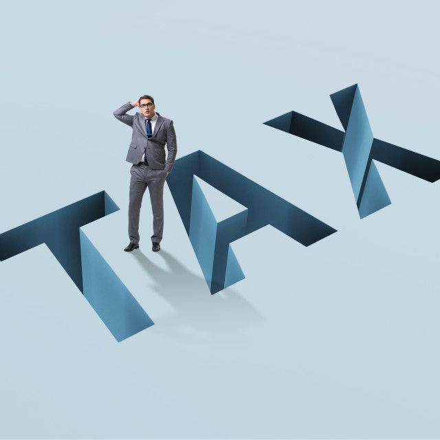 """""""Businessman in tax financial and business concept"""" stock image"""