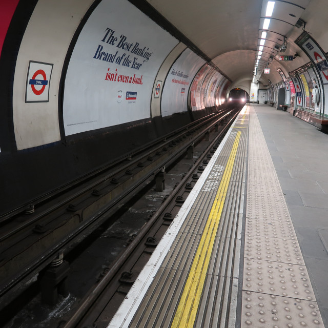 """Down at the tube station"" stock image"