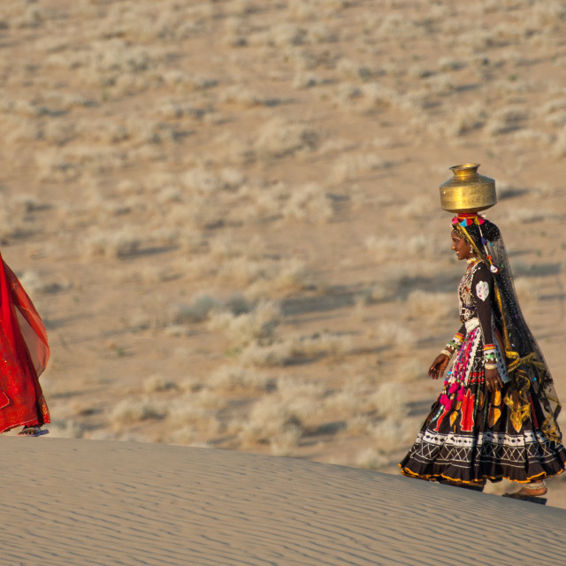 """""""A stroll on the sand dunes"""" stock image"""