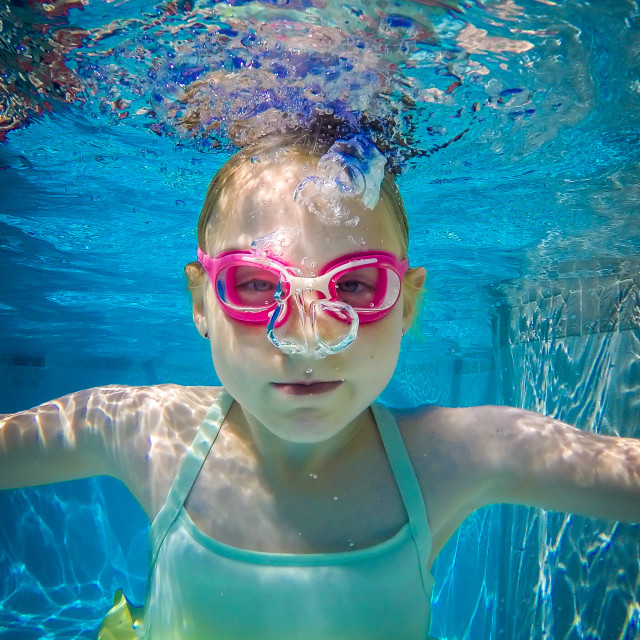 """Underwater portrait"" stock image"