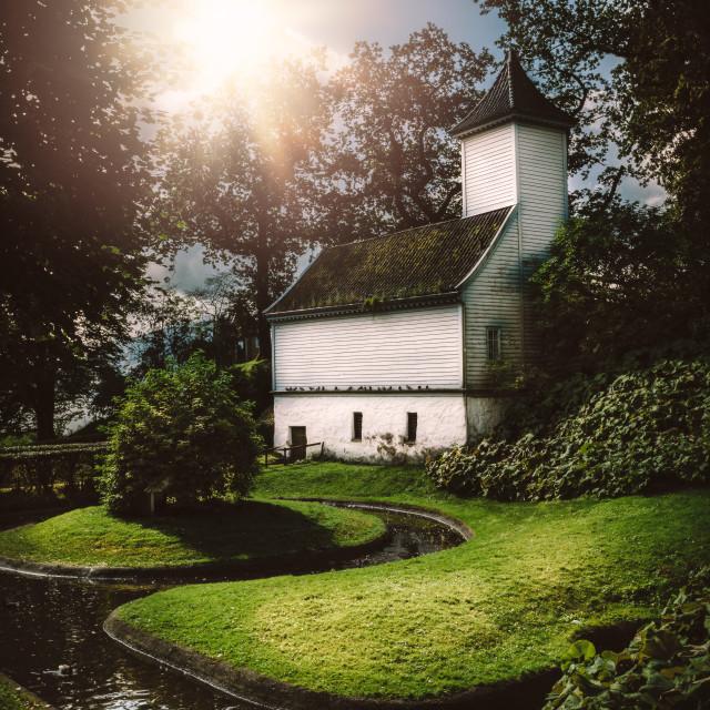"""Norwegian Fjords"" stock image"