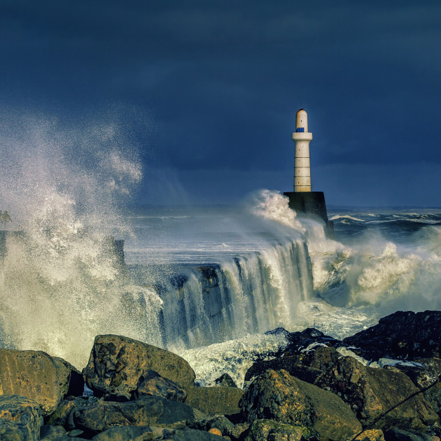 """Storm in Scotland"" stock image"