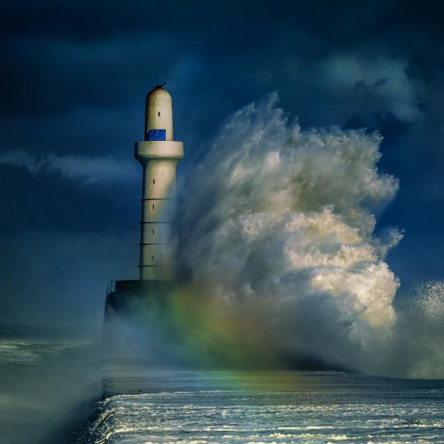 """Storm in Scotland"" stock image"