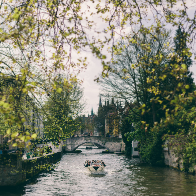 """Brugge Canals"" stock image"