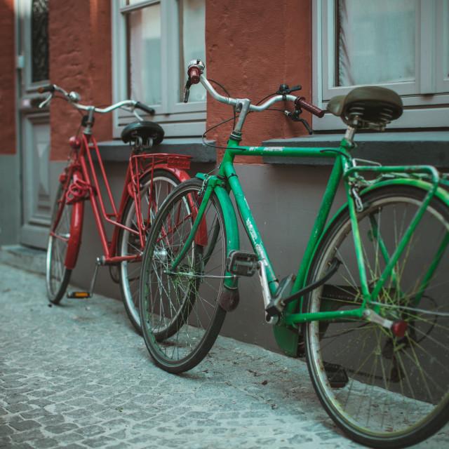"""""""Bruges Bikes"""" stock image"""