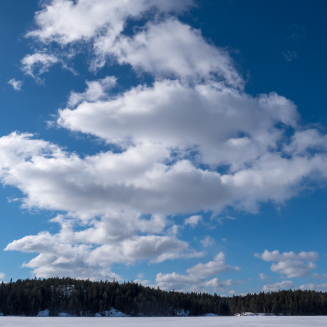"""""""Clouds on a sunny day"""" stock image"""