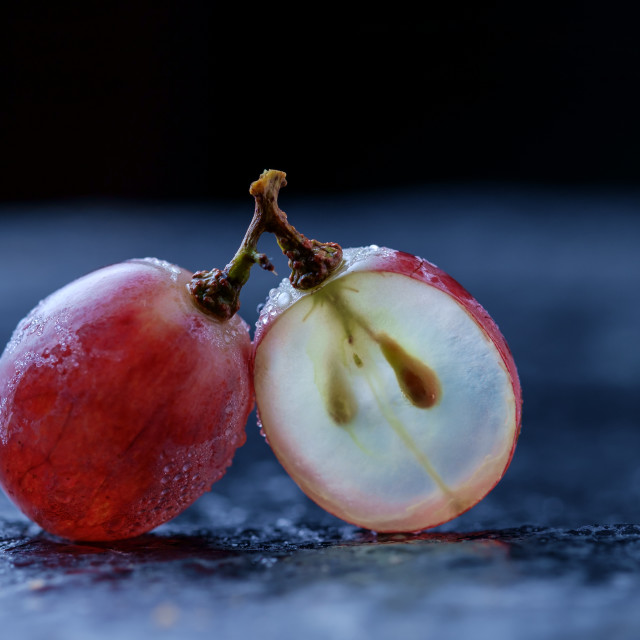 """""""Grape and inside it"""" stock image"""
