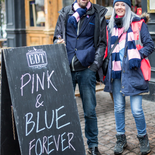 """Pink and Blue Forever"" stock image"