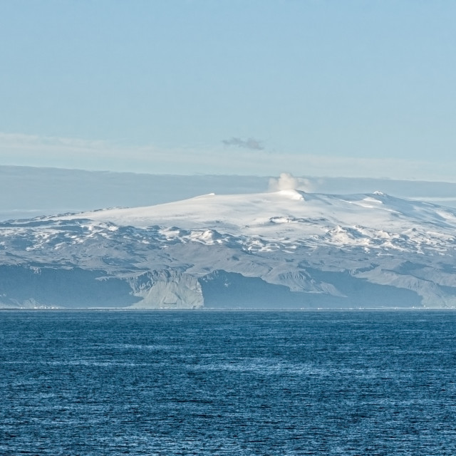 """""""Iceland seen from the sea"""" stock image"""