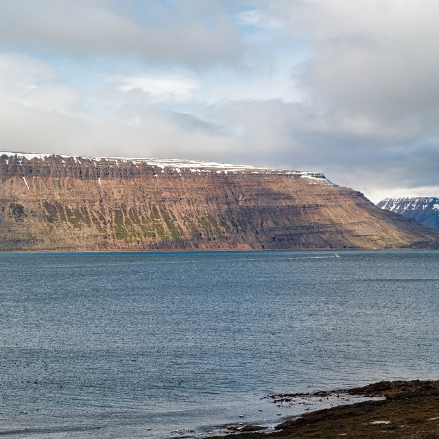 """""""Mountains and fjord of Iceland"""" stock image"""