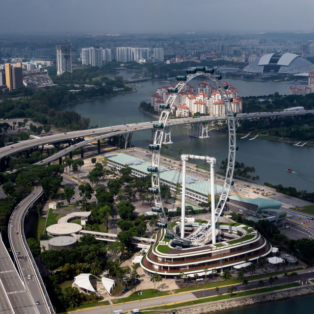 """Singapore from the Wheel"" stock image"