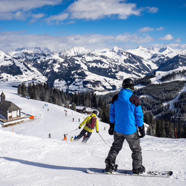 """Snowboarding At Kitzbühel"" stock image"
