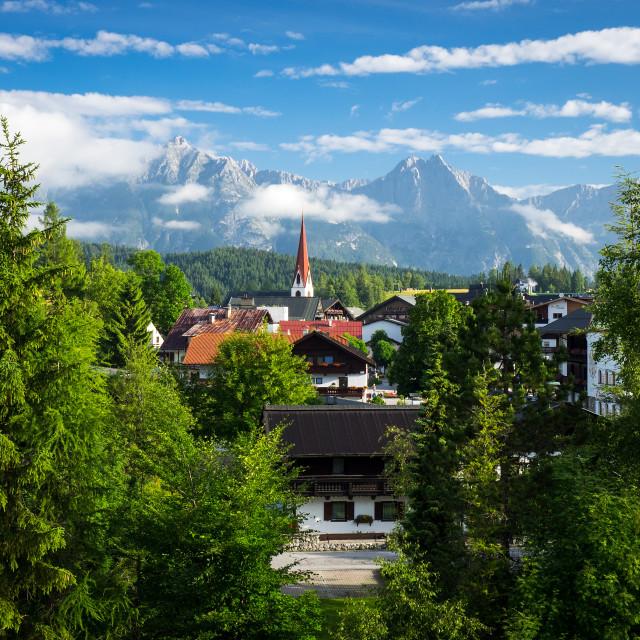 """Morning Sunlight Over Seefeld Austria"" stock image"