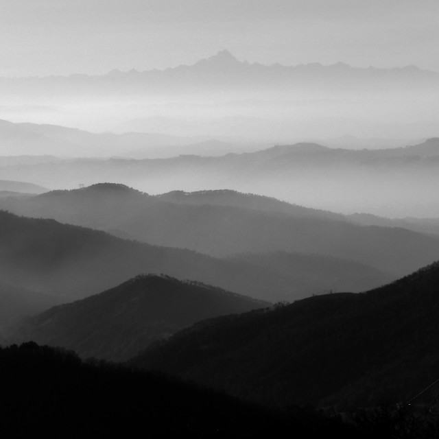 """""""Hills and mountains alignement"""" stock image"""