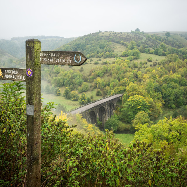 """Monsal Head Viaduct"" stock image"