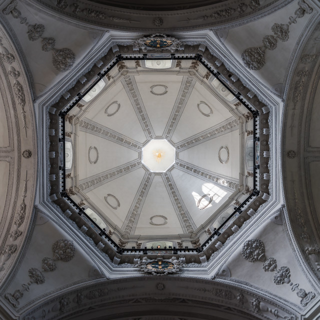 """""""Interior view of baroque church in Innsbruck"""" stock image"""