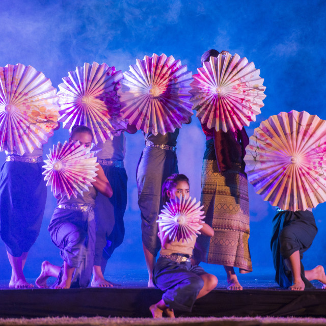 """""""THAILAND ISAN PHIMAI SOUND AND LIGHT SHOW"""" stock image"""