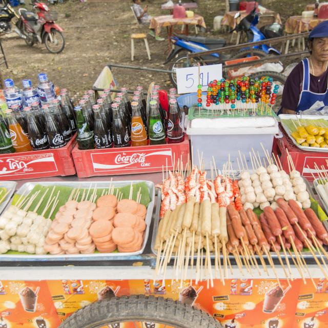 """THAILAND ISAN PHIMAI FESTIVAL THAI FOOD"" stock image"