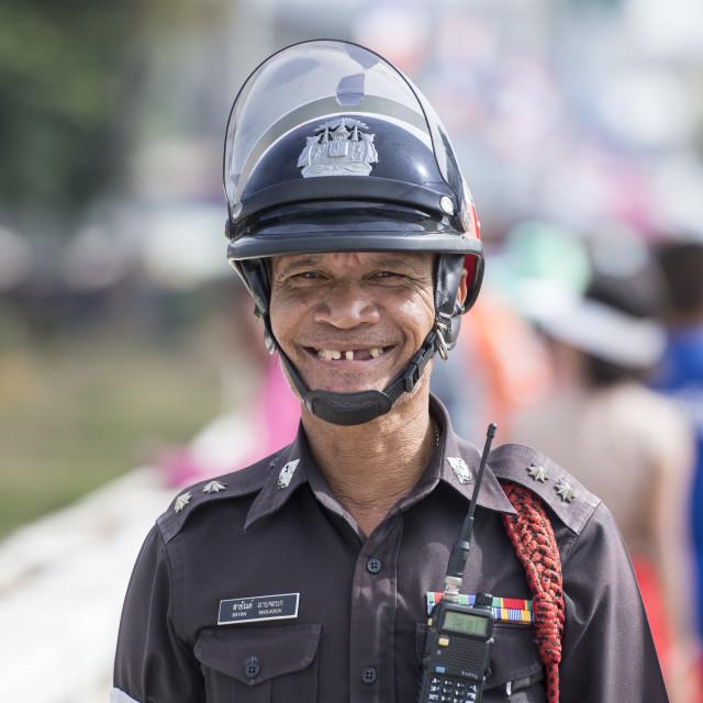 """THAILAND ISAN PHIMAI FESTIVAL POLICE"" stock image"