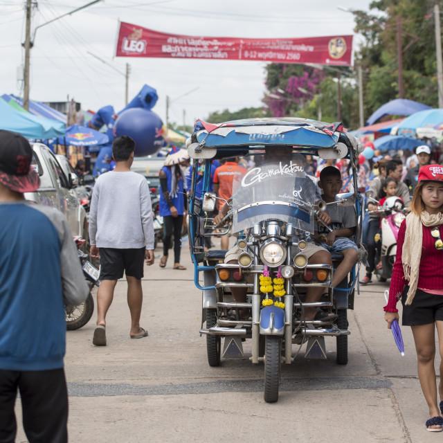 """THAILAND ISAN PHIMAI LONG BOAT RACE"" stock image"