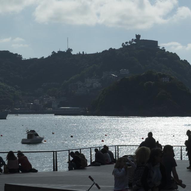 """La Concha Bay"" stock image"
