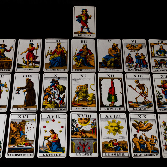 """1JJ Swiss Tarot - Major Arcana"" stock image"