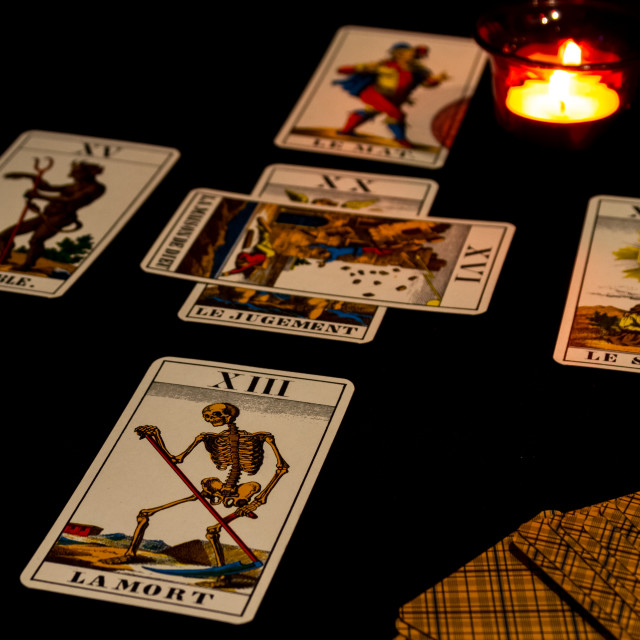 """Tarot Cross Spread"" stock image"