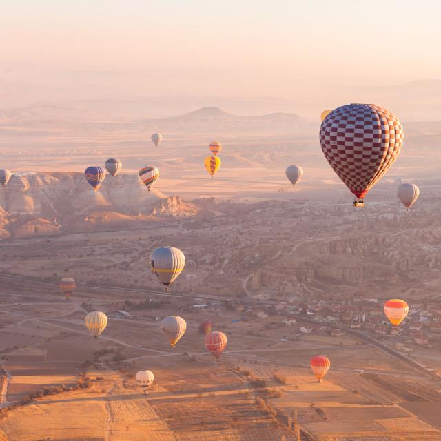 """Cappadocia from the sky"" stock image"