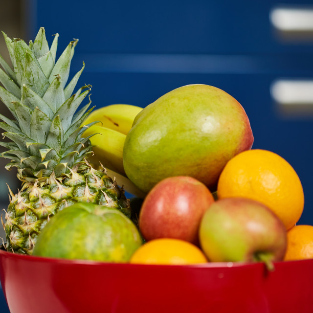 """""""Exotic fruits in a bowl"""" stock image"""