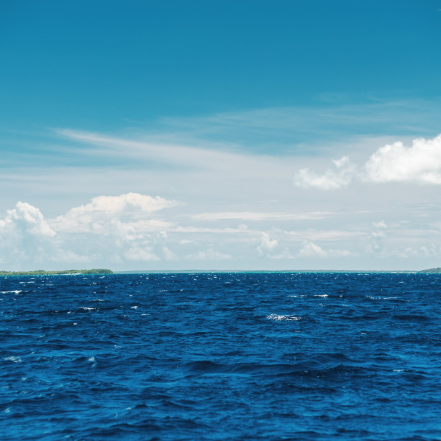 """""""Caribbean sea, beautiful panoramic view"""" stock image"""