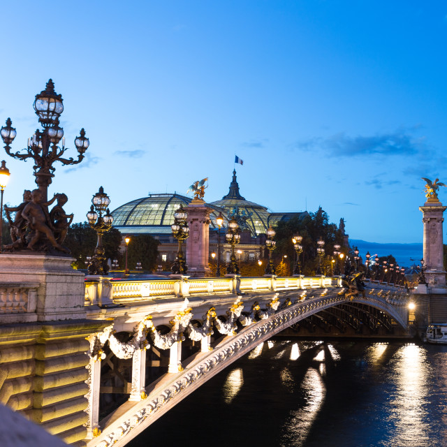 """Bridge in Paris"" stock image"