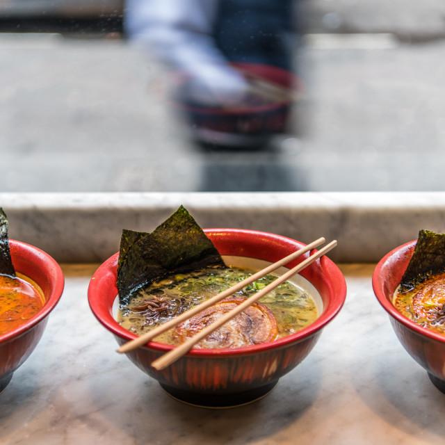 """Ramen bowls"" stock image"
